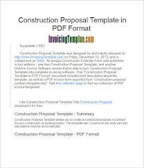 construction bid template excel 16 construction proposal templates free excel pdf templates