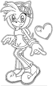 sonic and amy coloring pages free printable sonic x coloring