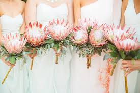 bridesmaid bouquets king protea bridesmaid bouquets brides