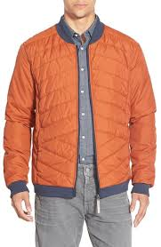 Bench Padded Jacket Bench U0027pulse U0027 Quilted Zip Front Jacket In Orange For Men Lyst