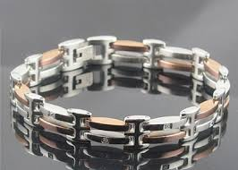 bracelet rose metal images Blackjack men 39 s stainless steel jewelry jpg