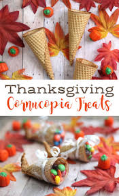 make these sugar cone cornucopia treats with the the day