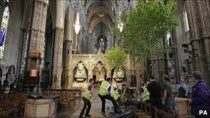 Wedding Trees Royal Wedding Trees And Flowers Transform Abbey Bbc News