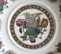 vintage spode brown thanksgiving plate transferware painted engli