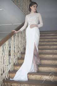 long wedding dress white and wedding dress crepe and lace