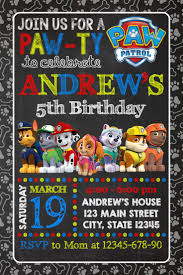 top 25 best paw patrol invitations ideas on pinterest paw