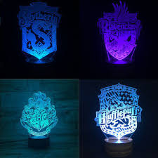 harry potter night light remote touch harry potter 3d acrylic vision led multicolor change