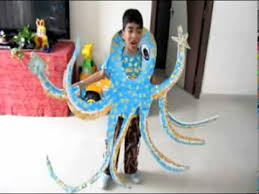 advaith aditya fancy dress as octopus youtube