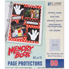 scrapbook page protectors c line memory book 11 x 8 5 inch scrapbook page
