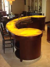 awesome circular bar counter for striking look great home bar