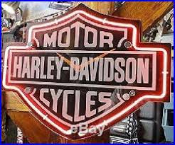 harley davidson lighted signs harley davidson etched bar shield shaped neon wall clock light sign