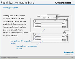 how to wire a 2 l ballast rapid start ballast wiring diagram smartproxy info