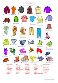 Esl Homonyms Worksheet 714 Free Esl Clothes Worksheets
