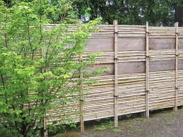 Different Types Of Fencing For Gardens - bamboo fence backyard fence ideas