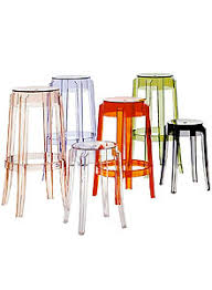 modern orange bar stools charles ghost modern bar stool by kartell clear acrylic stardust