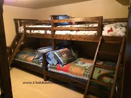 bradley s furniture etc western plains barnwood bunk bed shown in optional back to back style tw fl 2799