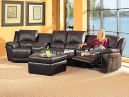 living room leather sectional sofas with recliners elegant