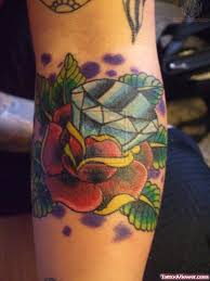 diamond and roses tattoo design tattoo viewer com