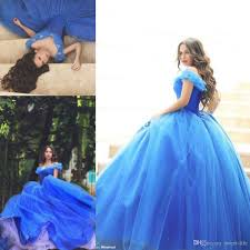 said mhamad 2015 prom dresses blue ball gown off shoulder puffy