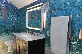 Tropical Bathroom Decor by Bathroom With Blue Mosaic Tiles 12 Tropical Bathrooms With Summer