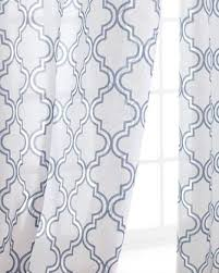 White And Blue Curtains Window Treatments Ambrosia Sheer Curtains Neiman