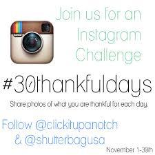 Challenge Instagram Instagram November Challenge 30thankfuldays