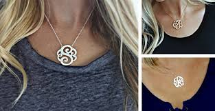 monogrammed necklaces monogrammed necklaces 12 99 the cost of shipping thrifty