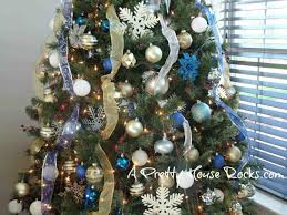 Blue Christmas Trees Decorating Ideas - of your dreams from ideas gold and silver and blue christmas tree
