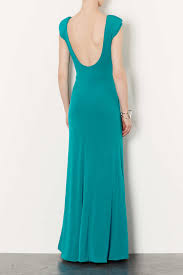 topshop scoop back maxi dress in blue lyst