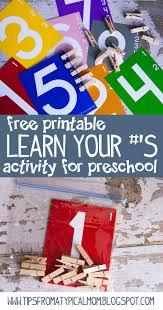 teach kids numbers free printable activity preschool