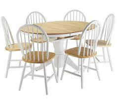 Extending Dining Table And 6 Chairs Buy Collection Kentucky Ext Solid Wood Table U0026 6 Chairs T Tone