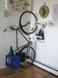Diy Bike Desk by Interior Wall Mounted Bike Holder Combined With Minimalist