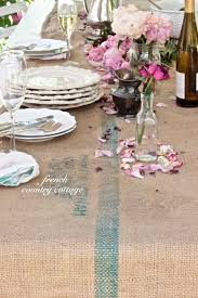rustic table runner country cottage