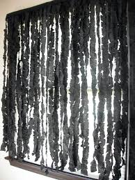Spooky Halloween Crafts 31 Days Of Halloween Spooky Curtains Black Streamers Cut To