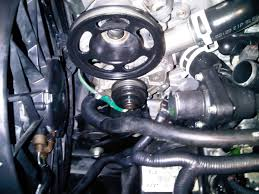 nissan almera water pump a belt broke which cause the heater to stop working and the