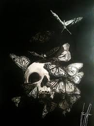 butterfly acrylic skull by tony welcome to a of