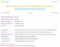 meeting minutes form for word dotxes