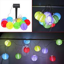led lantern string lights 10 solar powered led mini lantern string lights home goods n more