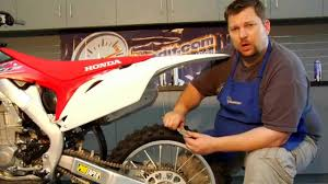 dirt bike chain adjustment and lubrication youtube