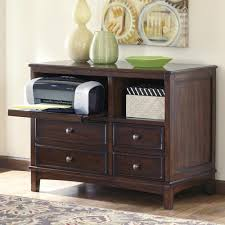 Dresser With Pull Out Desk Signature Design By Ashley Devrik Storage Cabinet With Vented Pull