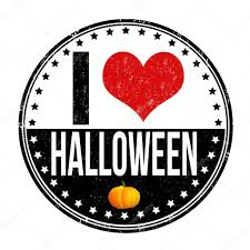 i love halloween stamp u2014 stock vector roxanabalint 54640717