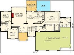 luxury 3 car garage ranch house plans new home plans design