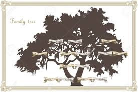 family tree template royalty free cliparts vectors and stock