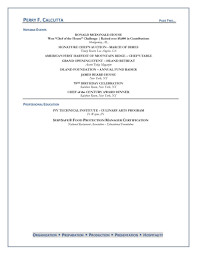 Demi Chef Resume Resume For Chef Free Resume Example And Writing Download