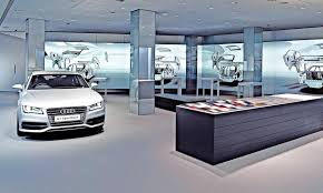 audi digital showroom audi makes london showroom a tech rich showpiece for the brand