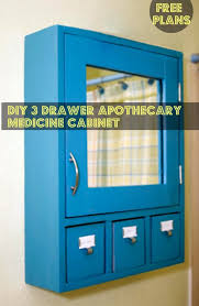 free diy furniture plans to build a 3 drawer medicine cabinet