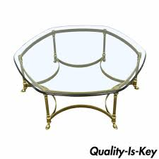 vintage glass coffee table labarge table ebay