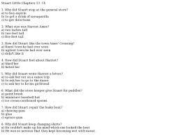 stuart little chapters 13 14 3rd 6th grade lesson plan