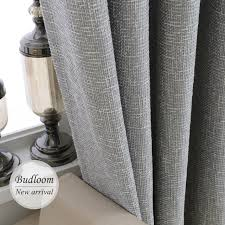 Curtains In A Grey Room Modern Blackout Linen Curtains Solid Color Drapes Grey Blue