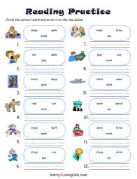 kindergarten reading printable early reading worksheets firm